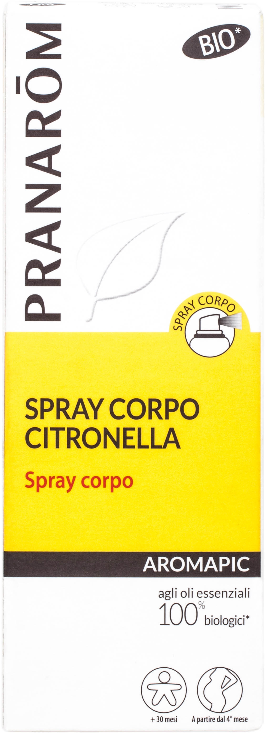 Spray corpo citronella