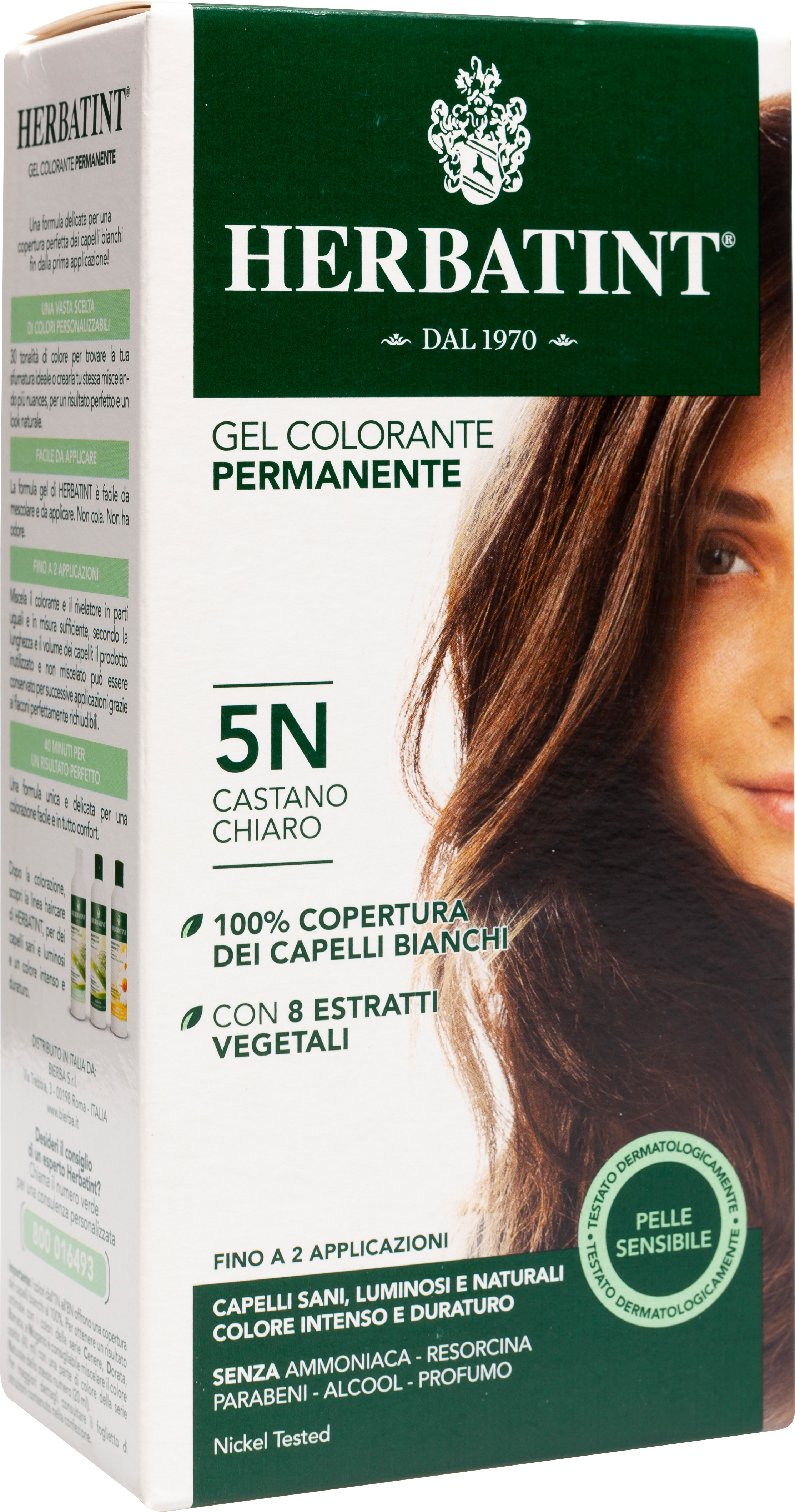 Gel colorante permanente 5N castano chiaro