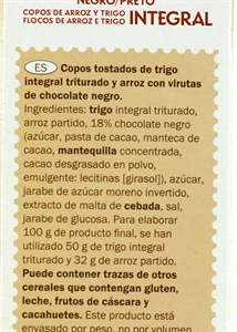 CROWNFIELD (LIDL) SPECIAL FLAKES CHOCOLATE. | Valor nutricional de  CROWNFIELD (LIDL) SPECIAL FLAKES CHOCOLATE. | OCU
